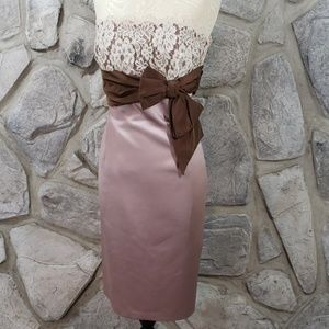 NWT Laundry Mocha Strapless Dress